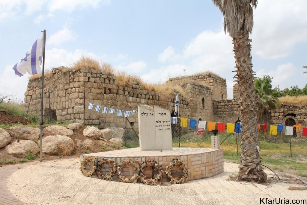 כפר אוריה - אנדרטה לנופלים, ליד החאן