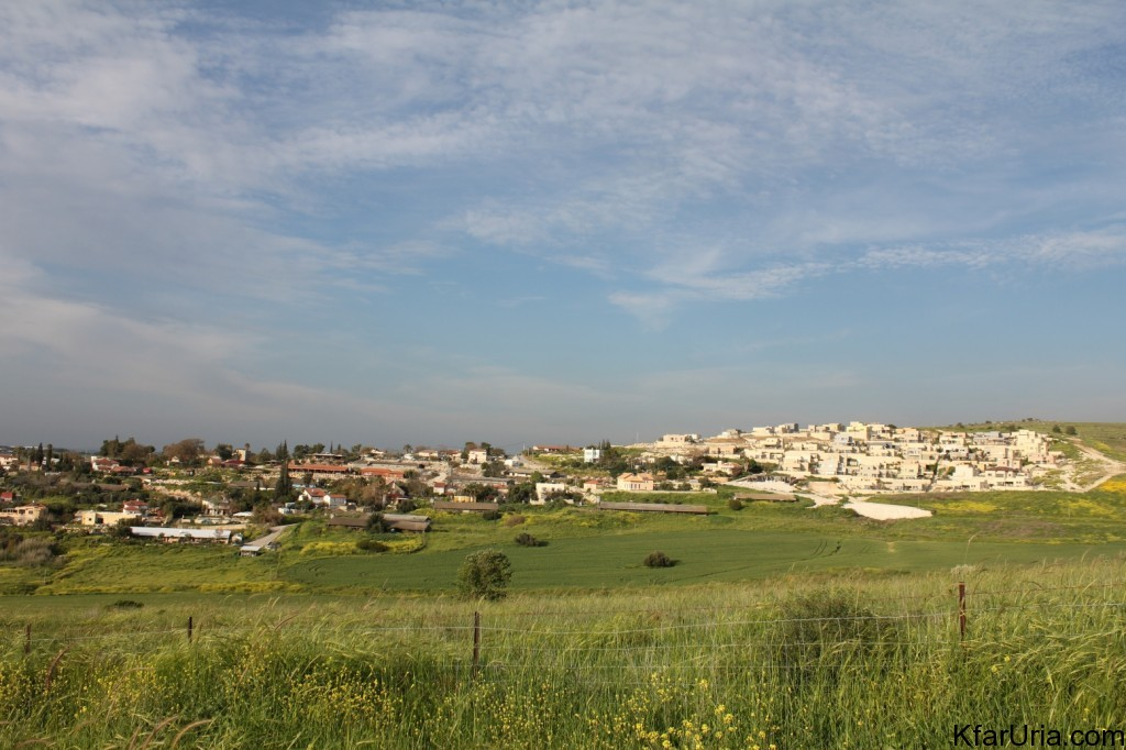 כפר אוריה - מראה מכיוון דרום מערב