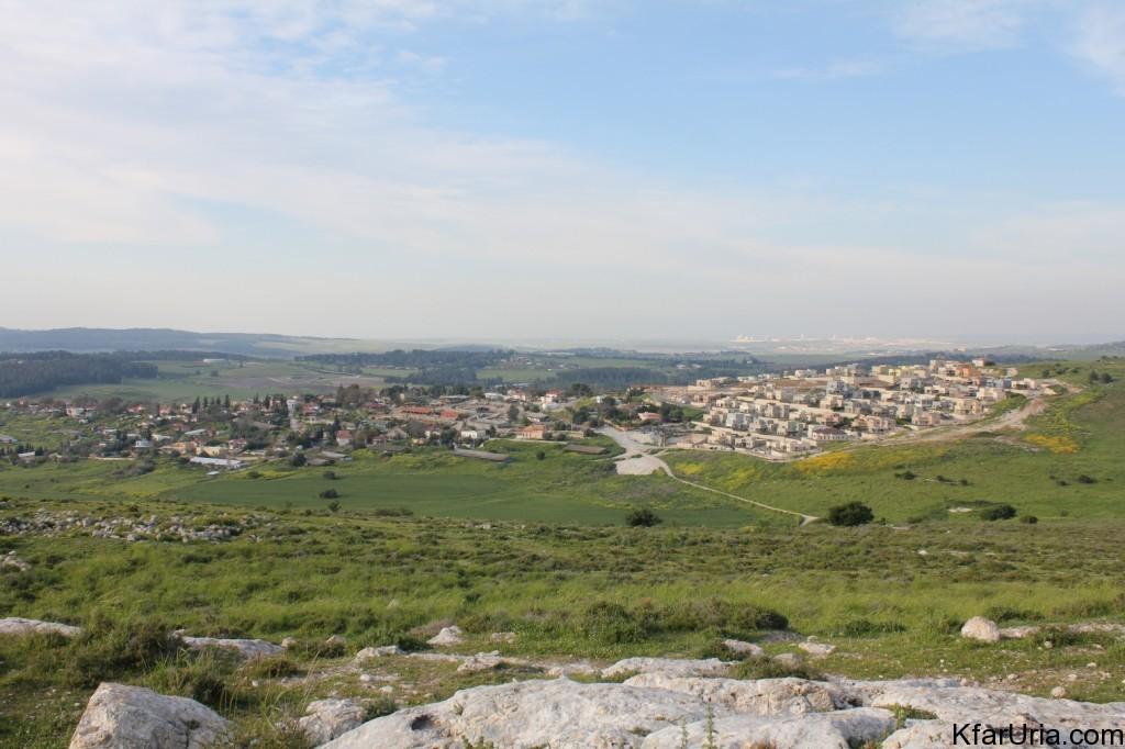 כפר אוריה - מראה מכיוון דרום
