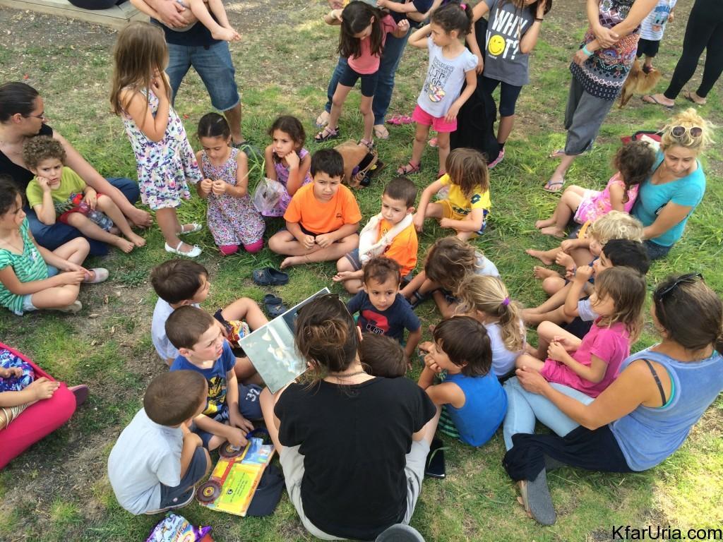 שעת סיפור כפר אוריה יוני 2015