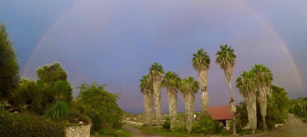 קשת בענן כפר אוריה נוב 2015