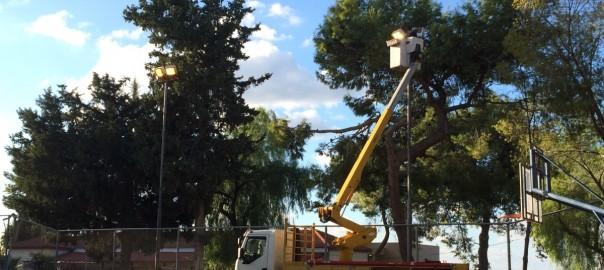 תאורה חדשה במגרש כפר אוריה 2.12.15