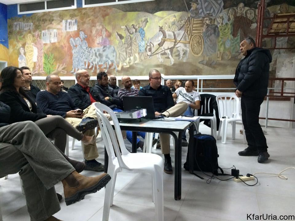 מפגש תושבים כפר אוריה 20.1.16 2