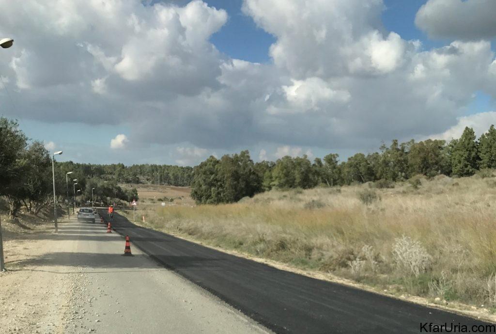 עבודות בכביש הגישה של כפר אוריה דצמבר 2016 4