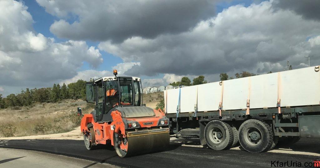 עבודות בכביש הגישה של כפר אוריה דצמבר 2016 5