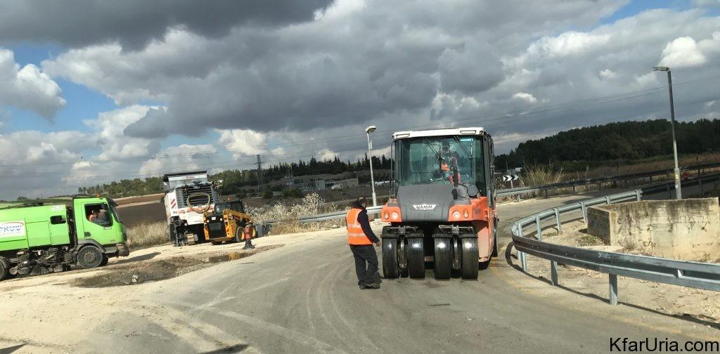 עבודות בכביש הגישה של כפר אוריה דצמבר 2016 1