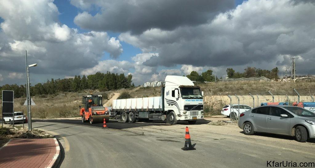 %עבודות בכביש הגישה של כפר אוריה דצמבר 2016 6