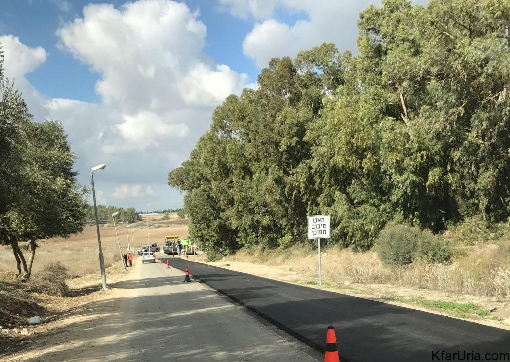 עבודות בכביש הגישה של כפר אוריה דצמבר 2016 3