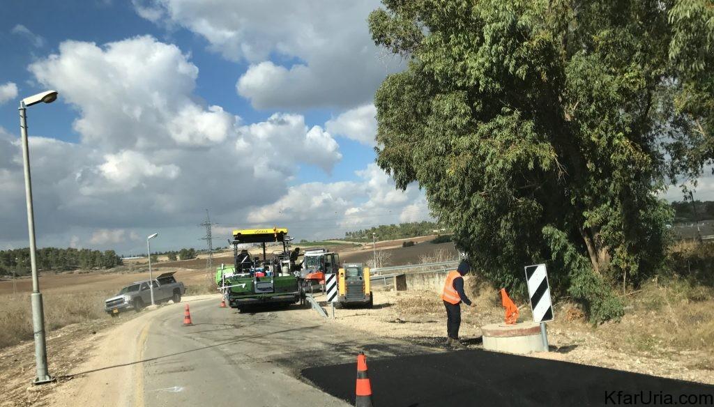 עבודות בכביש הגישה של כפר אוריה דצמבר 2016 2