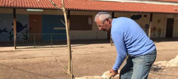 כפר אוריה - נטיעות טו בשבט - בפרואר 2017 4