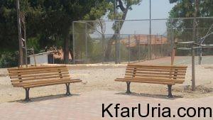 ספסלים חדשים כפר אוריה