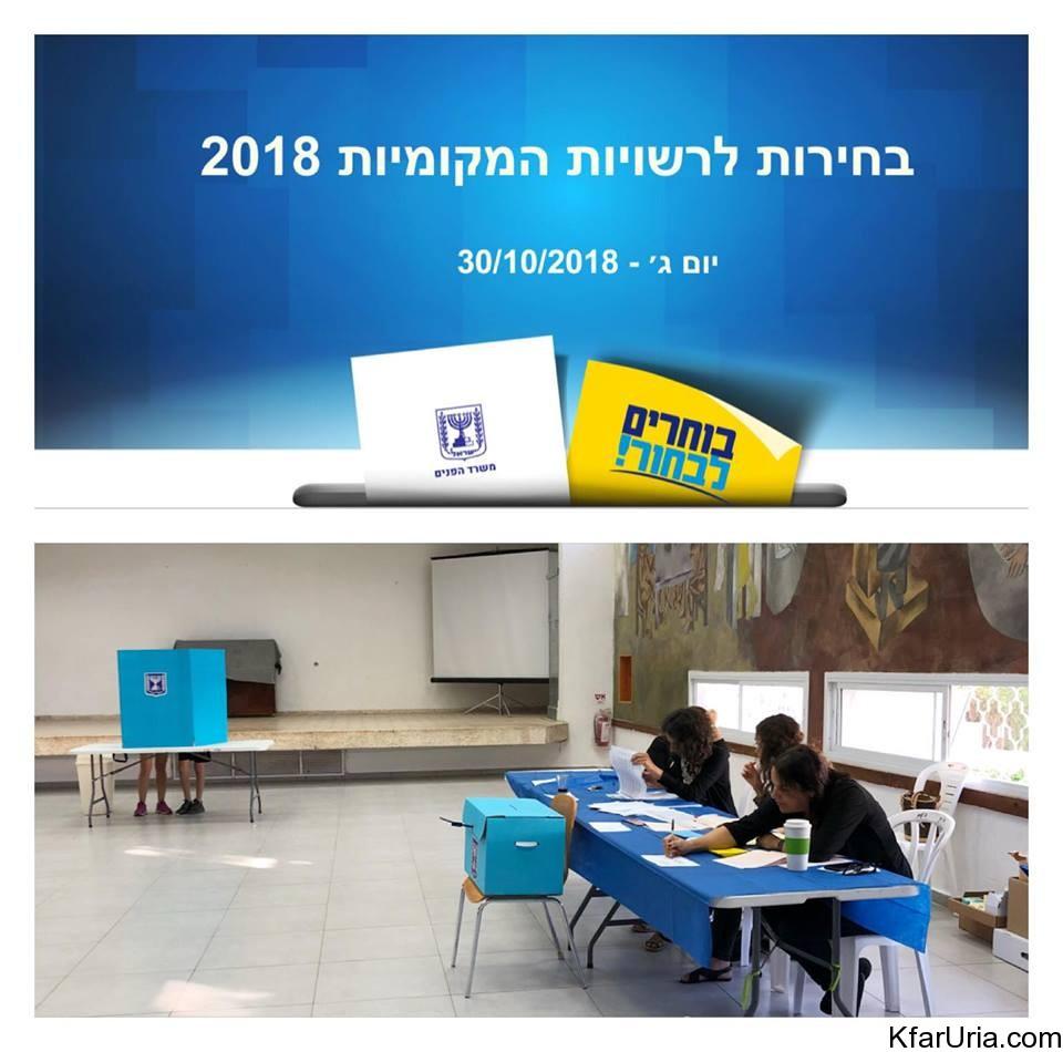 בחירות 2018 כפר אוריה